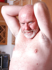Bald daddy bear Sterling Steel shows his small cock by Pantheon Bear image #8