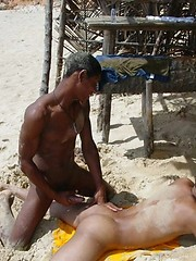Sexy black twinks fucking bareback on the beach. by Mount Equinox image #10
