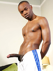 Anton Thomson - Mega Hung 9.5 inch Young Black Footballer by Hard Brit Lads image #6