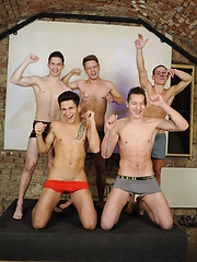 Euro jocks in a gay sex orgy by William Higgins image #8