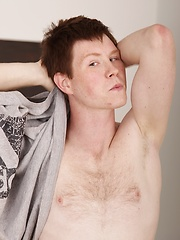 Super cute Mack Benz busts a nut onto his chest. by BF Collection image #4