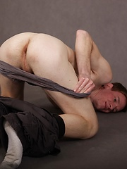 Luke Dole spreads his ass while stroking his hard cock. by BF Collection image #8