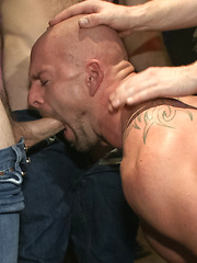 Muscle stud Mitch Vaughn tied up and used in a public bar by Bound in Public image #21