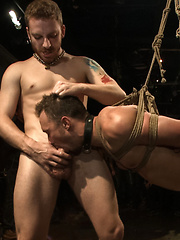 Kirk Cummings is beaten, humiliated and fucked in a crowded bar by Bound in Public image #19