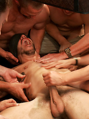 Tickle Torment A Ripped Stud in a Public Bar by Bound in Public image #19