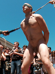 Cody Allen - Naked, Tied up, Zippered, Humiliated in Public by Bound in Public image #23