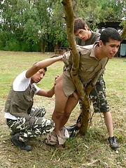 Twink gets tied up & forced to suck! by Gay WarGames image #17