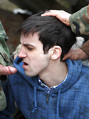 Boy forced to get soldier\'s cock! by Gay WarGames image #11