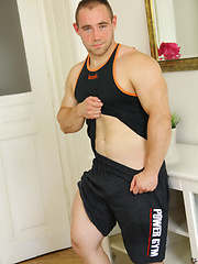 Power-Pack Muscle Hunk Jacking Off and Showing Off - New Guy: Anthony James by ManAvenue image #6