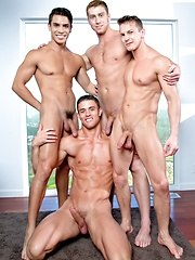Muscle foursome - Connor Maguire, Ryan Rose, Lance Luciano & Darius Ferdynand by Falcon Studios image #10