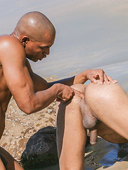 Barebacking at the Beach with Black Cock by BlackNHung image #12