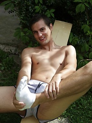 Very sexy Marco Sun jerking off in the backyard. by BF Collection image #6