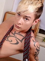 Schoolboy Threesome Sees The Uniforms Off & a Young Twink Stuffed With Cock From Both Ends! by Staxus image #12
