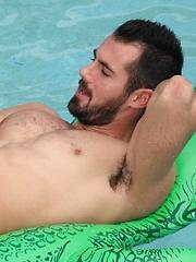 Hot uncut hunk Brock Cooper in Poolside by Dylan Lucas image #7