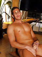 Muscle hunk John shows his cock by Playgirl image #5