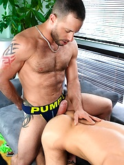 Brad Rioux and Marco Gagnon in Battle of The Big Guns! by Men of Montreal image #9