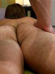 Muscular Rugby Stud Cory gets Massaged & his 1st Man Blow Job & he Wanks Jack! by English Lads image #8