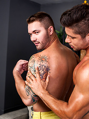Gay Porn Star Chad Karzen got fucked hard by Hot Hunk Fabio Acconi by Randy Blue image #7