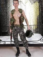 Uniforms: Horny Army Boy Gives And Takes Plenty Of Rock Hard Inches From A Grateful Civilian! by Staxus image #7
