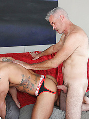 Here's the hot pics of Daddy Derek barebacking and breeding hot Aarin Asker. These two know how to fuck. by Hot Older Male image #10