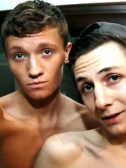 Trey Bentley & Matthew Cole. Bareback Buddies In The Bathroom by Bare Twinks image #7