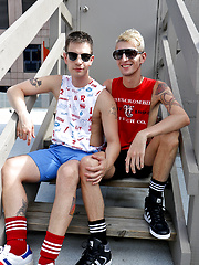 My horny mates Valentin and Caleb first outdoor shoot by Bentley Race image #7