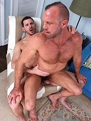 Muscle mature hunks Clay Towers and Chad Brock fuck