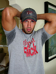 Carlos jacking off dick