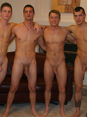 4 hot studs Fierce, Mark, Tommy D, Victor posing naked
