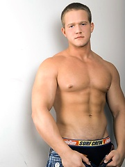 Collin Thomas is a smooth muscular jock, sporting a massive set of biceps, a strong thick torso and one amazing bubble butt.