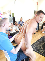 Boys gather to suck off these hunky studs