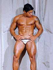 Latin bodybuilder Luiz Tribal
