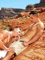Two muscle boys Josh Weston and Antton Harri outdoor fuck