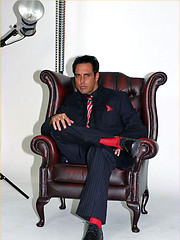 Nothing turns Marcello on more than getting photographed in his sexy suits