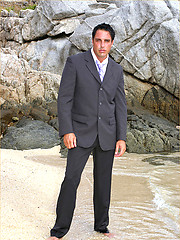 Marcello looking fucking gorgeous wearing a soaking wet business suit