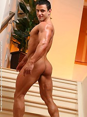 Alejandro shows his  extremely hot muscled body