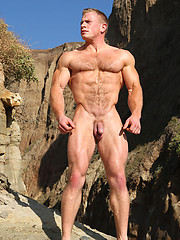 Muscle hunk Ben Kieren outdoors by Vin Marco