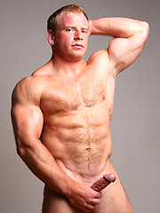 Hairy blonde muscle man Ben Kieren