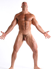Apollo posing naked and showsing us his perfect ripped body and big cock
