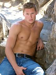 Muscle stud Chet posing naked