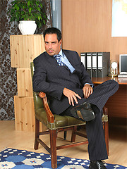 Marcello showing off his hard cock and new socks