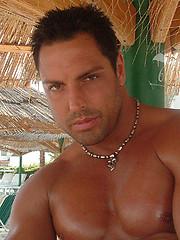 Gorgeous hunk Marcello masturbates after a long swim