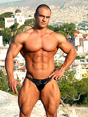 Dimitris Anastasakis, very hot muscle hunk outdoors