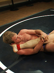 Paul Wagner swallows James Gates big uncut cock after they fought for sexual domination.