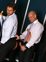 Awesome hunks fucking in the office like mad