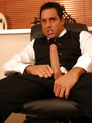 Marcello is studying at home and then has a sneaky wank