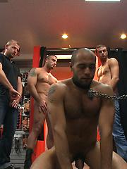 Leo endures the most intense flogging on Bound in Public.