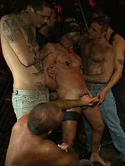 Will Swagger gets humiliated and gang fucked inside Mack Prison Sex Club.