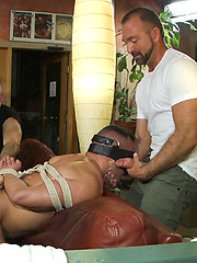 A muscle stud is dragged into a San Francisco sex club where he sucks many cocks and gets gangbanged by a group of horny strangers.