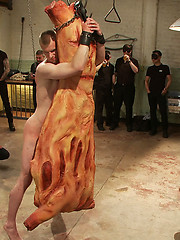 Big stud gets his ass pulverized in the slaughterhouse.